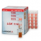 LCK114 COD chemical oxygen demand cuvette tube cell vial test 150 - 1000mg/L O2 (pack of 25)