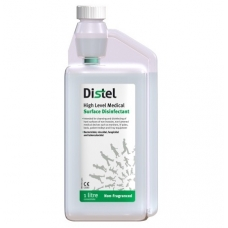 TM310 Distel Trigene Advance 1L non fragranced clear concentrate high level medical surface disinfectant self dosing bottle (pack of 1)