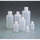 2003-0008 250ml natural low density polyethylene LDPE Boston round narrow mouth neck leakproof general purpose laboratory bottle with screw cap (pack of 12)