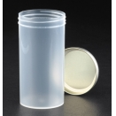 193A sample container aseptic 250ml capacity polypropylene PP bottle with metal ME Flow Seal screw cap without label (pack of 50)