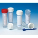 128C/P sample container Universal aseptic 30ml capacity polypropylene PP bottle with polypropylene PP QuickStart screw cap with plain label (pack of 400)